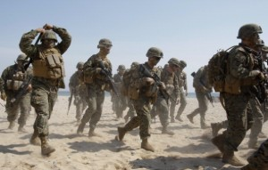 US Marines in action. [Getty images]