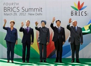 The BRICS leaders. [AP]
