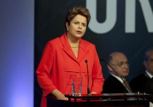 President DIlma Rousseff  is determined to wipe out extreme poverty [Getty Images]