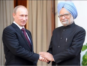 Singh, right, will meet with Russian leader Vladimir Putin and other BRICS leaders in Durban March 26 [Getty images]