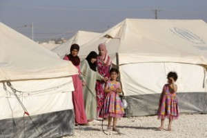 The UN has called for donations to help Syrian refugee camps such as the above [Getty Images]