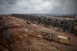 New housing under construction in the West Bank Jewish settlement of Ariel. [Getty images]