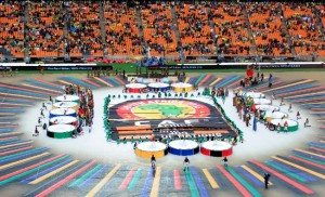 The opening ceremony of the 2013 African Cup of Nations, 19 January, 2013 in Johannesburg, South Africa.