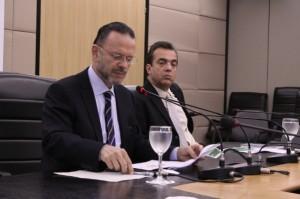 President Coutinho (l) and Director João Carlos Ferraz. [BNDES]