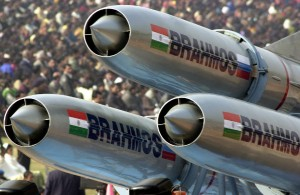 BrahMos missiles on display. [AP]
