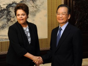 President of Brasil, Dilma Rousseff and Chinese premier Wen Jiabao. [Getty Images