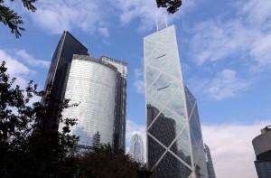 Financial buildings in Hong Kong, China. [Xinhua]
