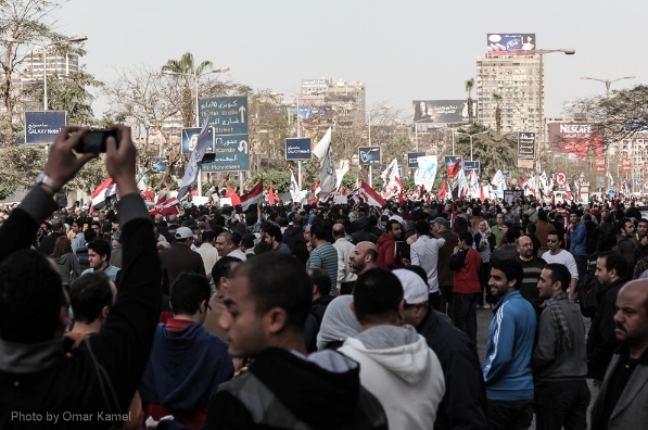 Thousands of Egyptian protesters gather in Tahrir Square, Cairo, Egypt, Friday, 25 January, 2013. [Omar Kamel]