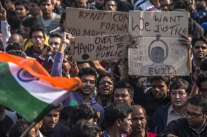 Students in New Delhi protesting against current rape laws. [Getty Images]