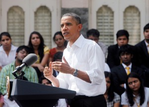 US President Barack Obama on a trip to India. [Getty Images]