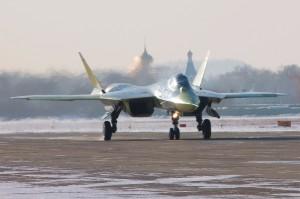 Russia's prototype fifth-generation Sukhoi T-50 jet. [Sukhoi Company]