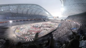 An artist's impression of the Olympic Stadium in Sochi, Russia. [Getty Images]