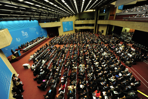 An important feature of the WTO is also to act as a diplomatic forum for resolving trade conflicts [Courtesy: WTO]