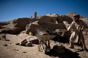 An archaeological dig located at the world's second-biggest unexploited copper mine in Kabul, Afghanistan. [AP]