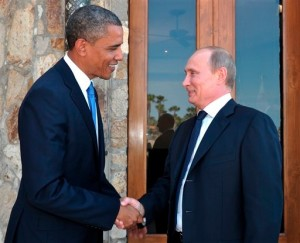 US President Barack Obama and Russian President Vladimir Putin. [AP]