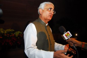 Indian foreign minister Salman Khurshid. [Xinhua]
