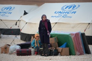 More than a million Syrians have fled the fighting to neighbouring countries [Getty Images]