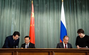 Chinese and Russian foreign ministers met in Moscow to prepare for Xi Jinping's visit there later this year [Xinhua]