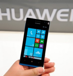 A Huawei smartphone using the WIndows 8 operating system. [Getty Images]