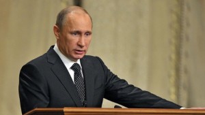 Putin joked in an aside that differences with France over Syria could be resolved with a bottle of vodka