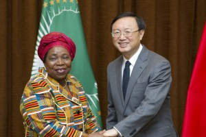 Yang Jiechi, Chinese foreign minister and Nkosazana Dlamini-Zuma, AU Commission chairperson [Xinhua]