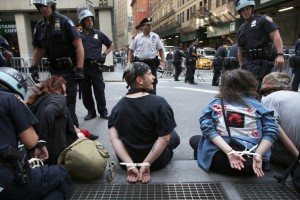 Protestors arrested during 'Occupy Wall Street' demonstrations. [Getty Images]