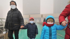 In Beijing, the concentration of airborne particles, called PM 2.5, in January this year averaged nine times the safe level defined by the World Health Organisation [Xinhua]