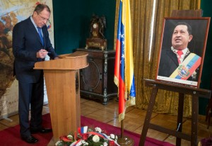Sergey Lavrov, Russia's foreign minister signs a condolence book at Venezuela's embassy in Moscow [AP]