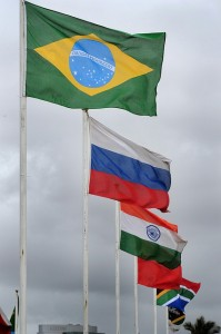 BRICS flags flying high in Durban.