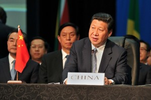 Chinese President Xi at the 5th BRICS Summit.