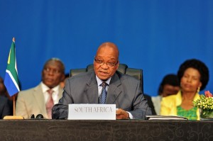Zuma urged all parties to work on peaceful wage negotiations [BRICS5]