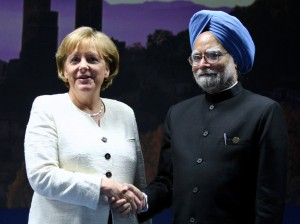 Merkel and Singh have met several times over the past few years [Getty Images]