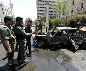 Syrian violence, such as this car bomb attack in Damascus, has left more than 80,000 dead
