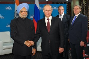 Indian prime minister Manmohan Singh with Russian President Vladimir Putin (Image Courtesy Russian President's Office)