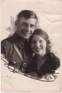 Alexander Zharikov and his wife Lidia