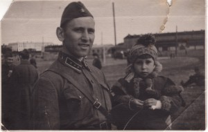 Vladimir Feskov with his daughter Albina