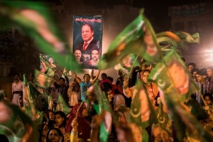 Nawaz Sharif and his party PML-N have won an emphatic victory in the general elections. (Getty Images)