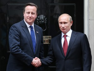 Cameron, left, said that both leaders had the same goal of ending the conflict [Getty Images]