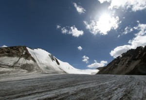 Glaciers, such as the Tian Shan No. 1 in southwest China, have been receding due to higher temperatures [Xinhua]