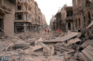 Many cities and towns, such as Aleppo, have been wiped out in the two-year civil war [Xinhua]