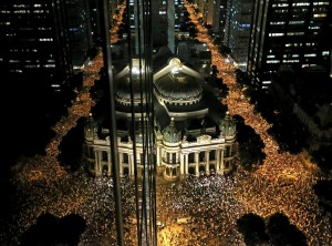 Tens of thousands have protested living conditions in Rio de Janeiro [Xinhua]