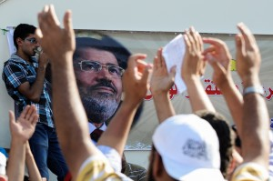Thousands of Morsi supporters gathered in Cairo's Nasr City on June 21 [Getty Images]