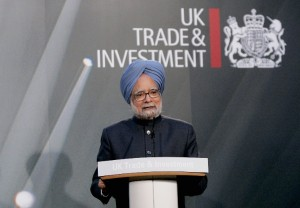 File photo of India's Prime Minister Manmohan Singh at a session of an India-UK investment summit at Lancaster . (Getty Images)