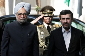 File photo of Indian Prime Minister Manmohan Singh with Iranian President Mahmoud Ahmadinejad in Tehran. (AP Images)