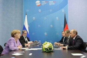 President Putin in a meeting with German Chancellor Angela Merkel [PPIO]