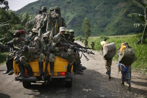 In this file photo, M23 rebels withdraw from areas in eastern Congo [AP]