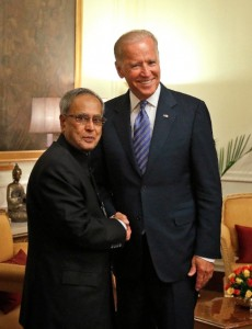 Biden met the Indian President in New Delhi on Tuesday [AP]