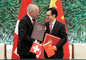 Bilateral trade between China and Switzerland reached $22.89 billion in May 2013. (Xinhua Images)