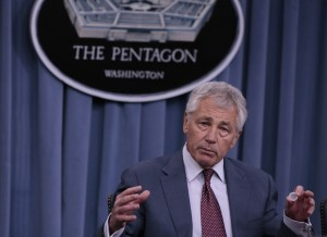Hagel says he was ordered by Obama to prepare the US military for all options regarding Syria [Xinhua]
