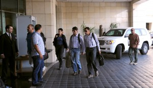 The UN team of weapons experts arrived in Damascus on Sunday, after a two-month delay [Xinhua]